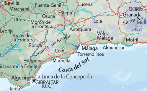 Moron Spain Map.Costa Del Sol Golf Course Golf Courses Spain Sunshine Golf Spain